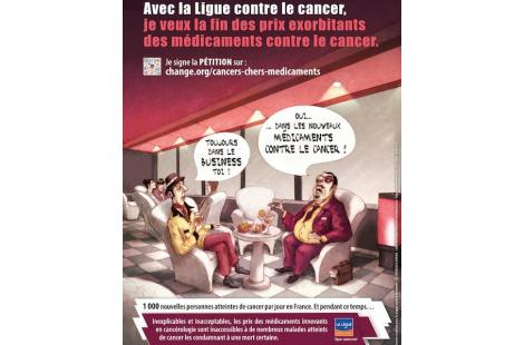 Capture d'écran de l'affiche de la Ligue contre le cancer